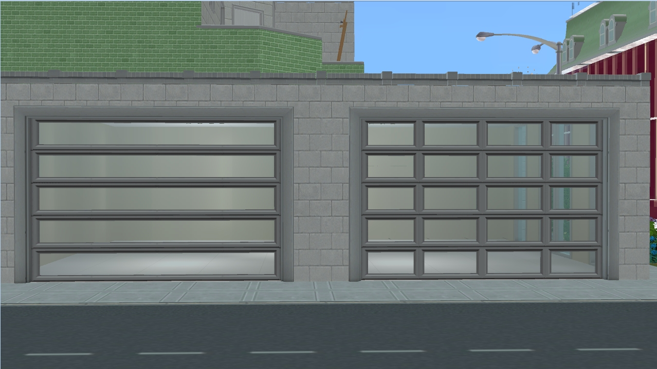 Mod the sims ap patio garage door modern both of the versions have five recolors each the good news is that you can have both in game since they have different guids rubansaba