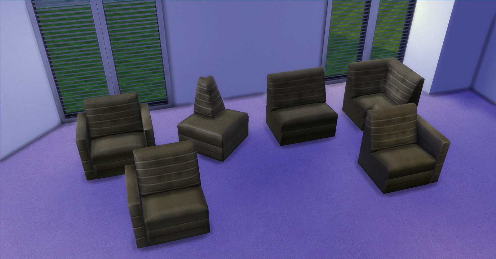 Since Its Not Possible Yet To Create A Sectional Chair Or Sofa For The Game Each One Serves As Living And Can All Be Joined