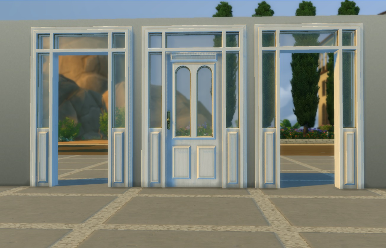 & Mod The Sims - Lattice Door and Arch
