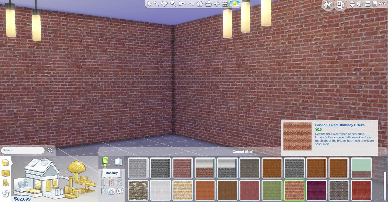 Mod The Sims - Brick Walls 2 Sims 1 Walls