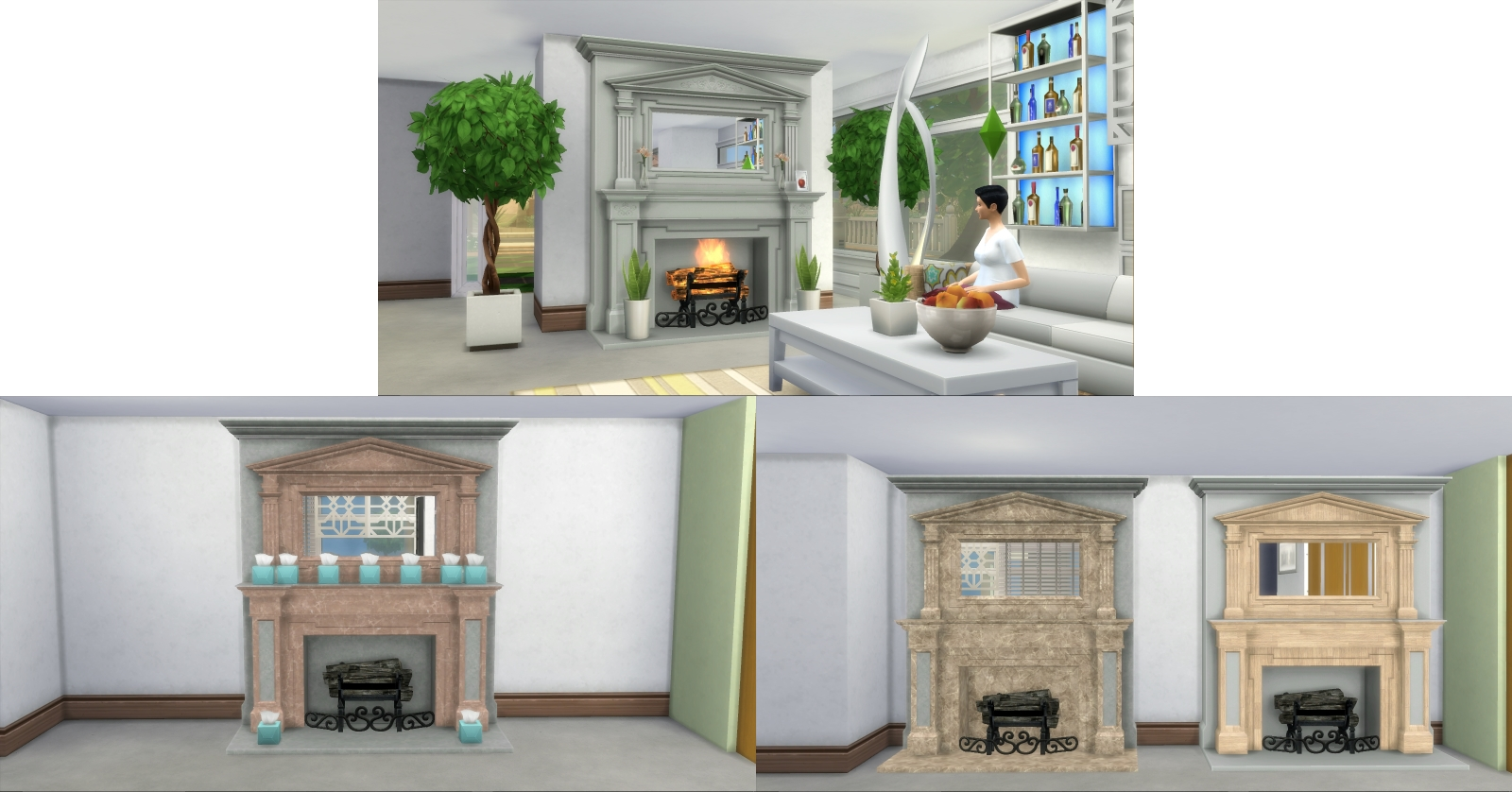 Mod The Sims - Fire Places 2