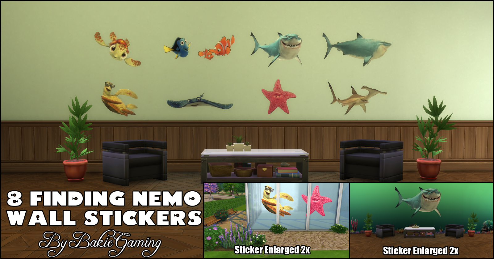 Finding Nemo Wall Stickers With These Fun Wall Decals You Can Decorate  Everything! Decorate Your Walls, Windows, Pool Walls Or Pool Windows.