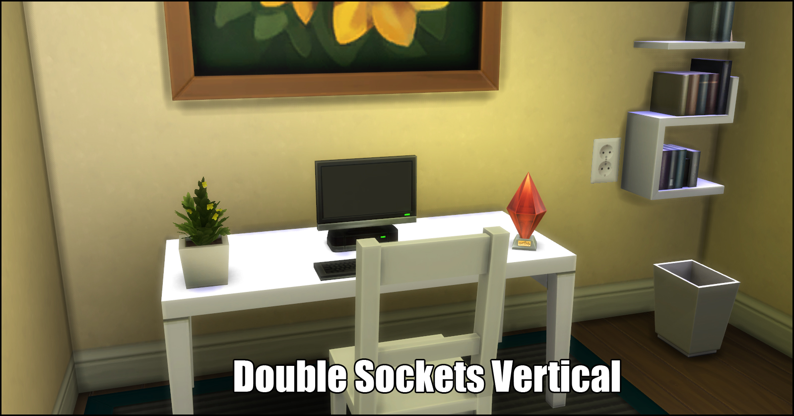 Mod The Sims - Electric Sockets Wall Stickers (StandAlone object)