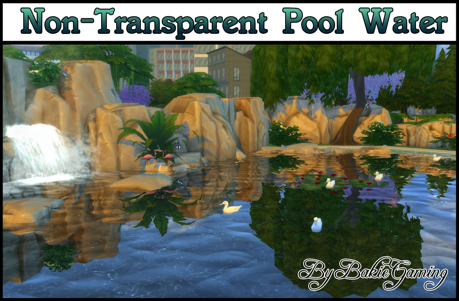 Mod The Sims - Non-Transparent Pool Water