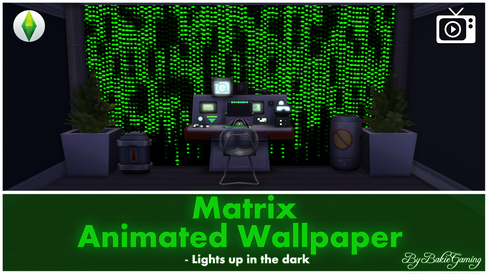 Animated Wallpaper - Matrix Inspired by the Matrix Series, I made this Animated Matrix Wallpaper for you. I tried to make a wallpaper where green strings of ...