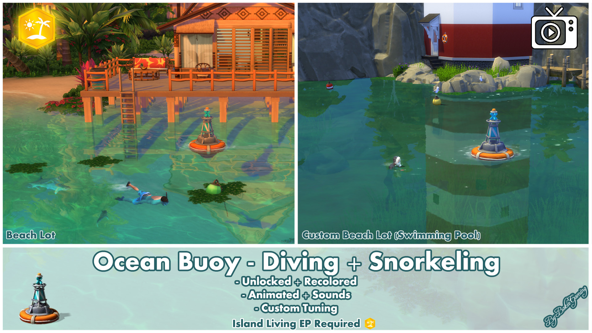 Mod The Sims - Ocean Buoy - Diving & Snorkeling