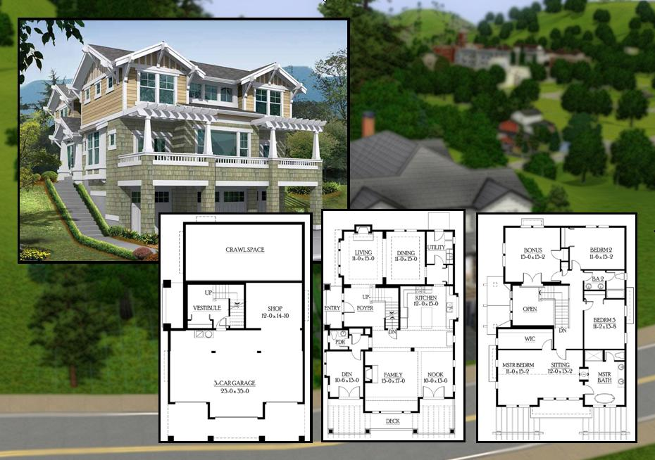15 cool house blueprints for sims 3 building plans for Cool house plans for sims 3