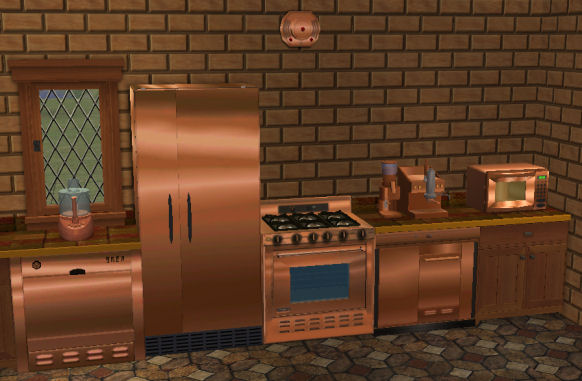Mod The Sims Copper Textures For Base Game Kitchen