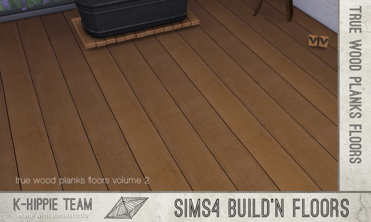 Mod the sims 7 wood floors authentic factory volume 2 for Wood floor factory