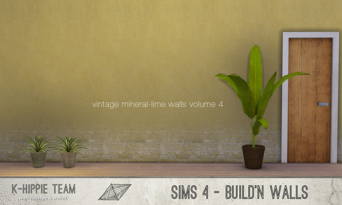 Mod the sims 7 mineral lime walls vintage volume 4 for Mineral wall