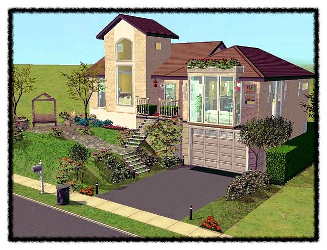 Mod the sims house american beauty for Classic house sims 4