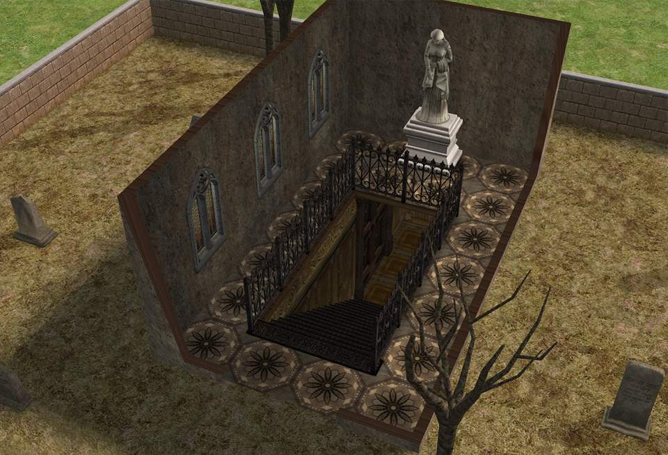 Mod the sims creepy graveyard above secret underground for Classic underground house