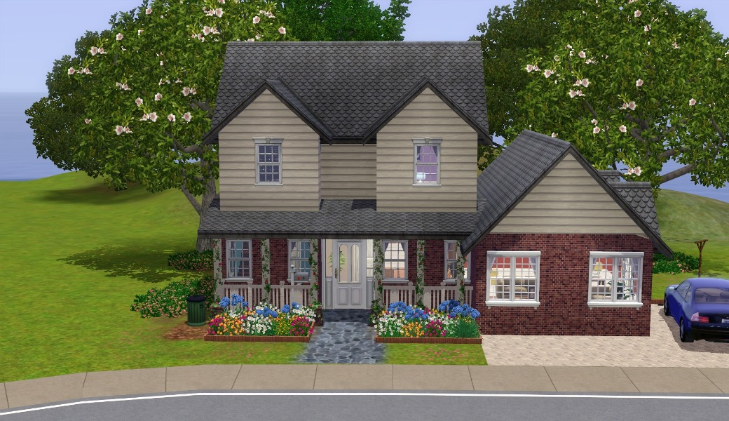 Mod the sims the suburban house part ii for Classic house sims 3