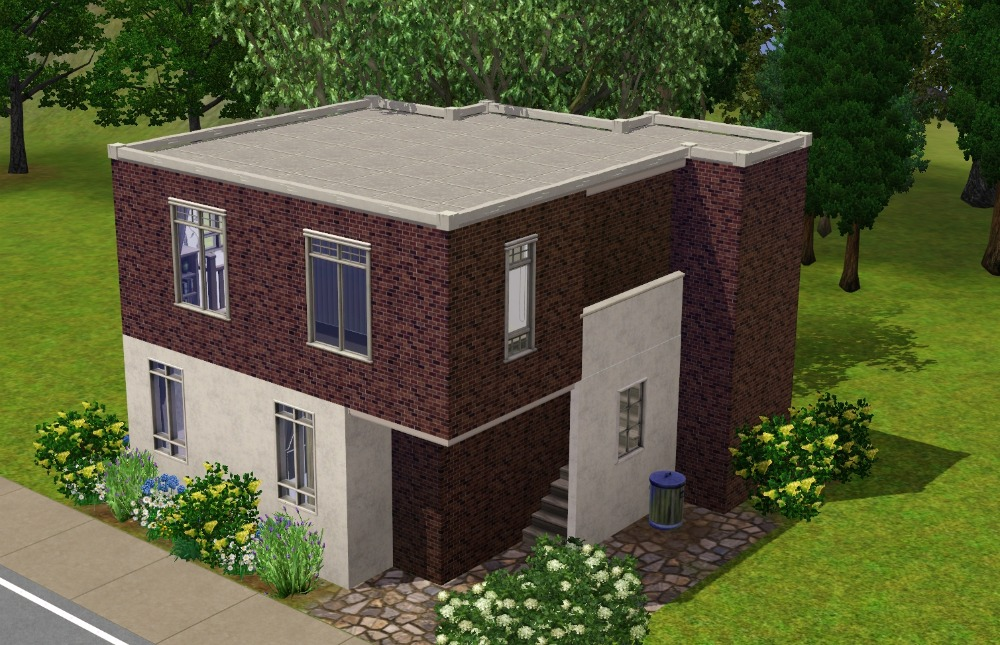 Mod the sims the little modern house for Minimalist house sims 2