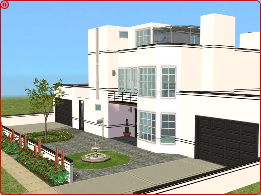 Mod The Sims The Luton 5 Bedroomed Art Deco House Some Cc