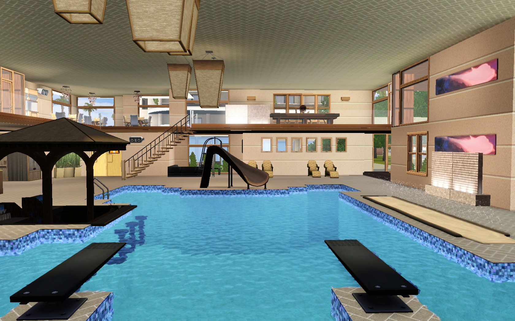 Mod the sims liquid h2o indoor pool for Pool design sims 4
