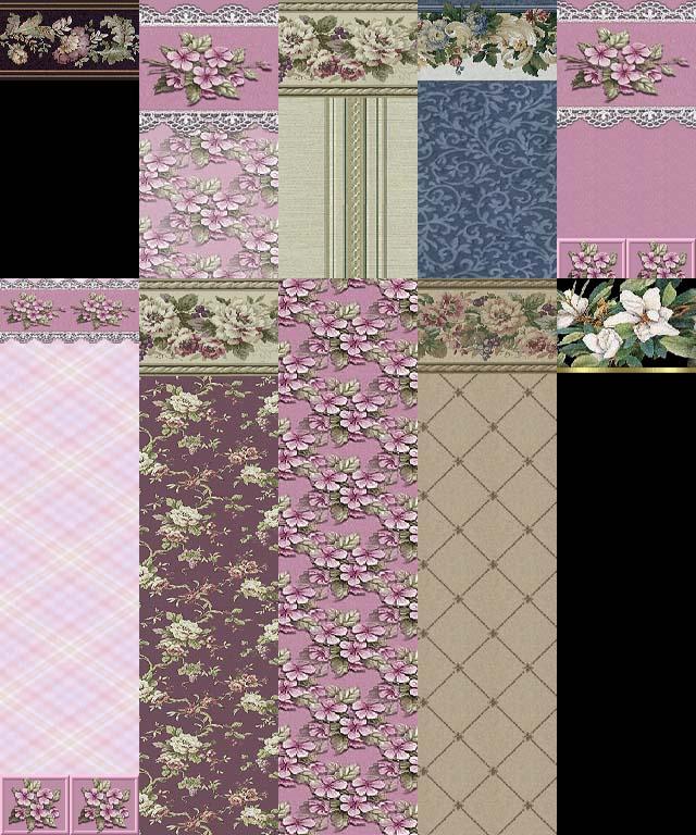 floral wallpaper. Forever Floral Wallpaper - Set