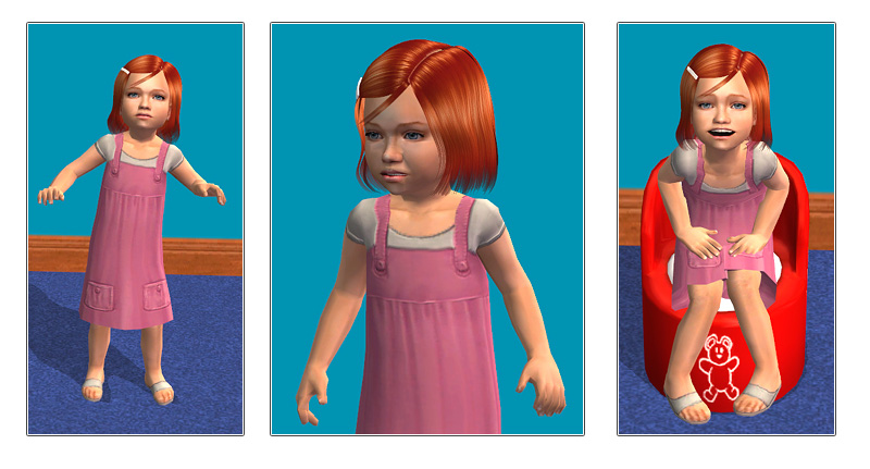 Mod the sims sophia toddler by oepu.