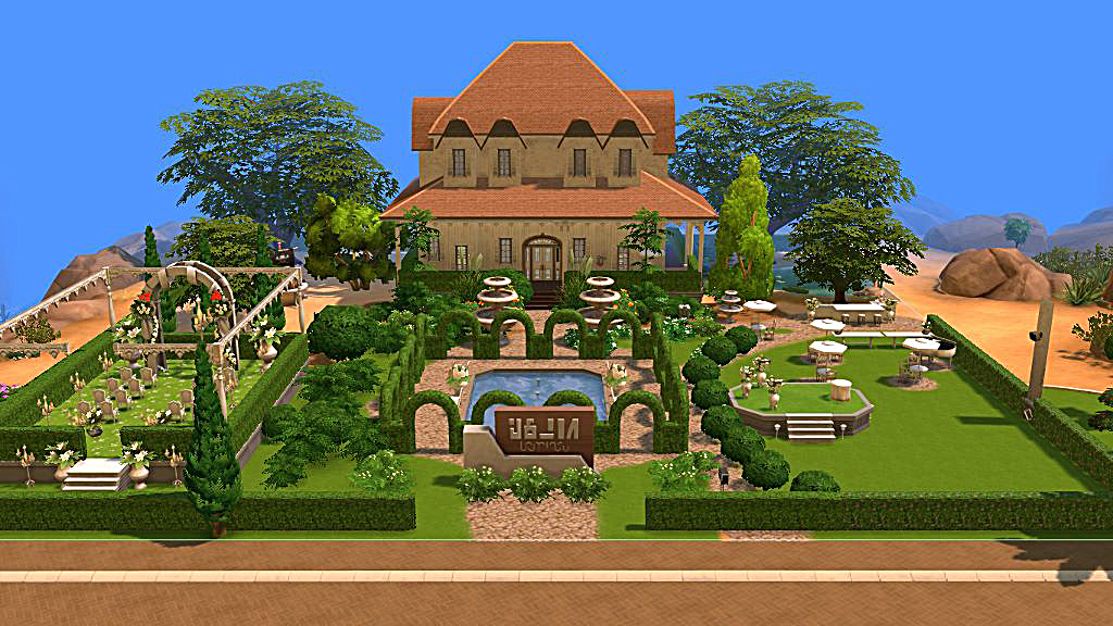 """Mod The Sims - """"Off With The Breeze"""" Wedding Venue"""