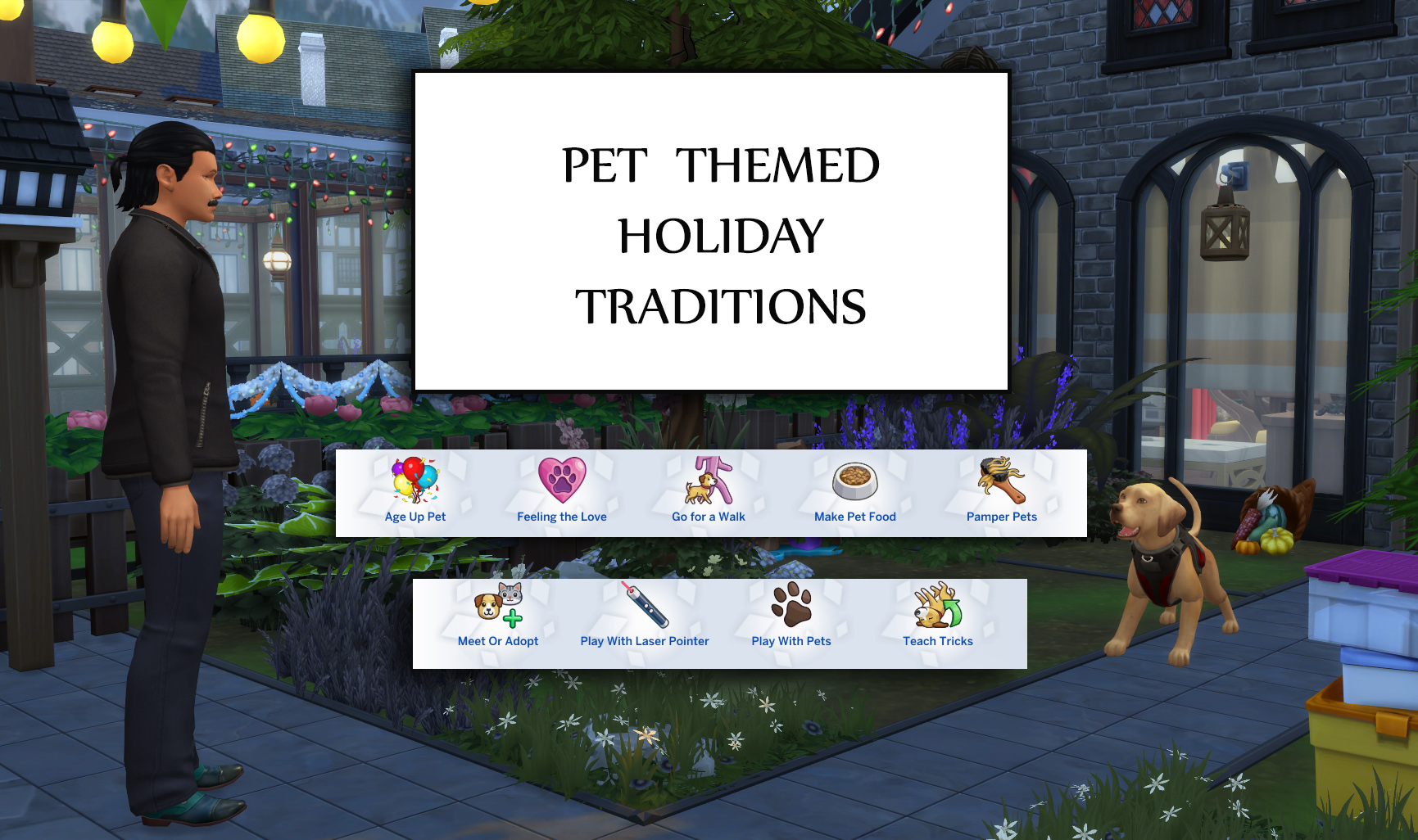 Pet Themed Holiday Traditions (Update 17th