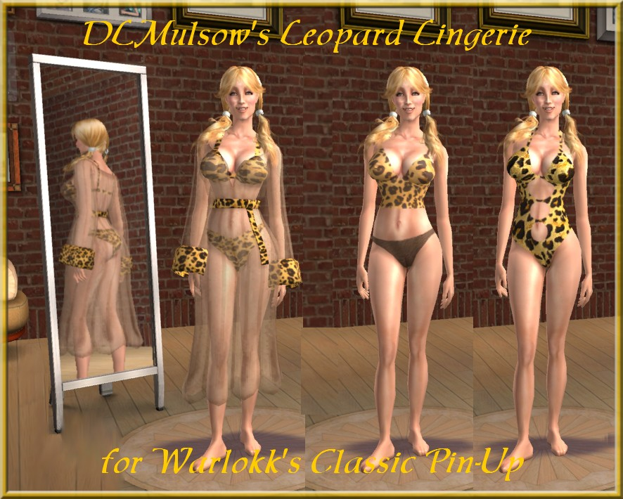 Mod The Sims - DLMulsow's Classic Pin-Up Leopard Separates