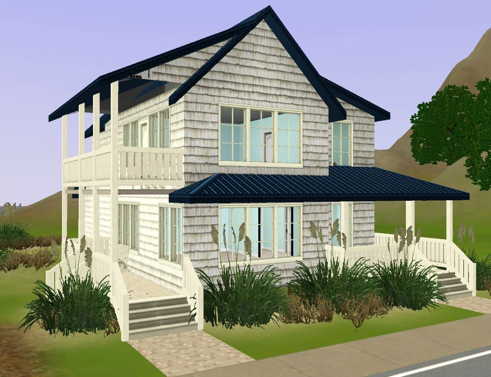 Mod the sims beach bungalow for Beach house plans sims 3