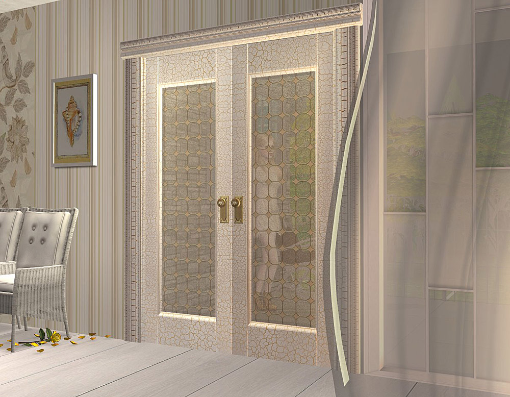 Mod the sims project maiden 39 s bedroom part 9 doors for Beveled glass doors