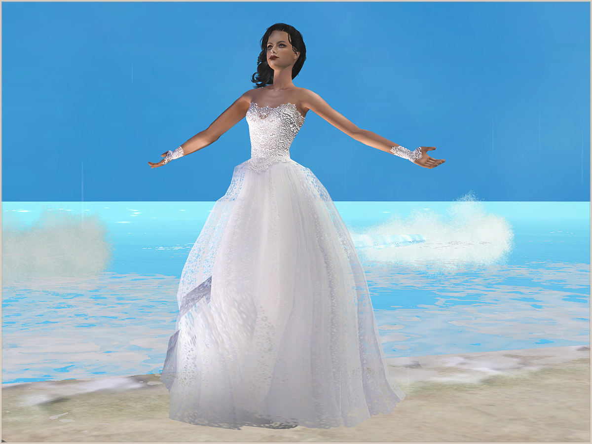 "Mod The Sims - Fashion story from Heather. Wedding. Set ""Cream&White"""