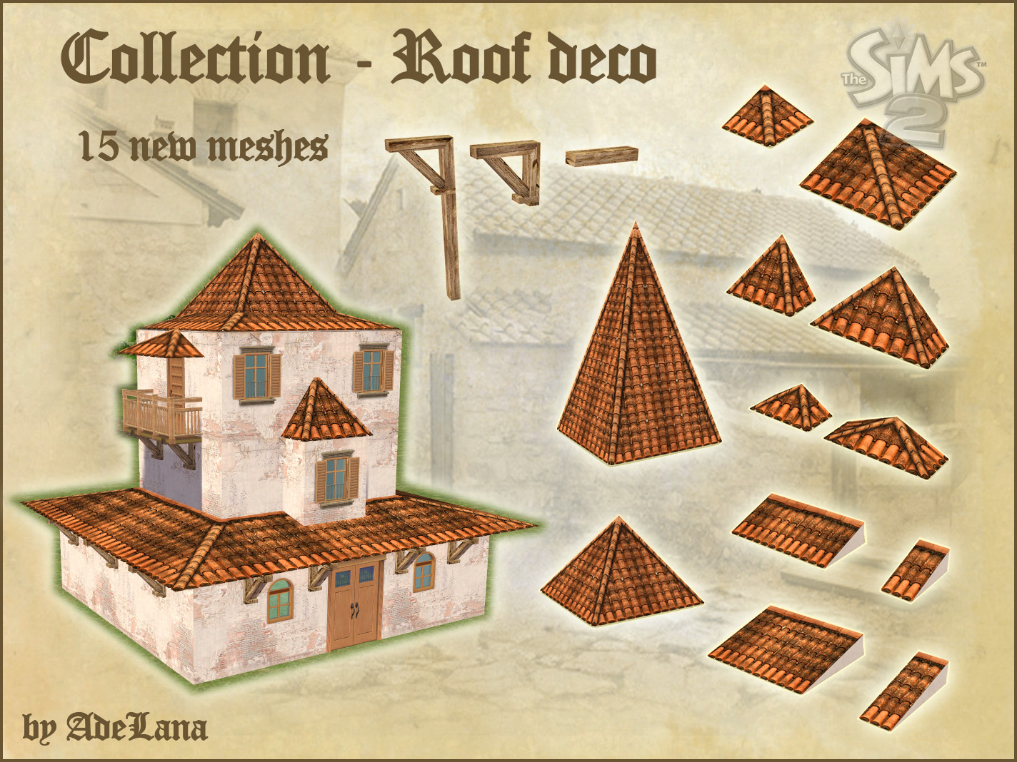 Mod The Sims Roof Decor Collection