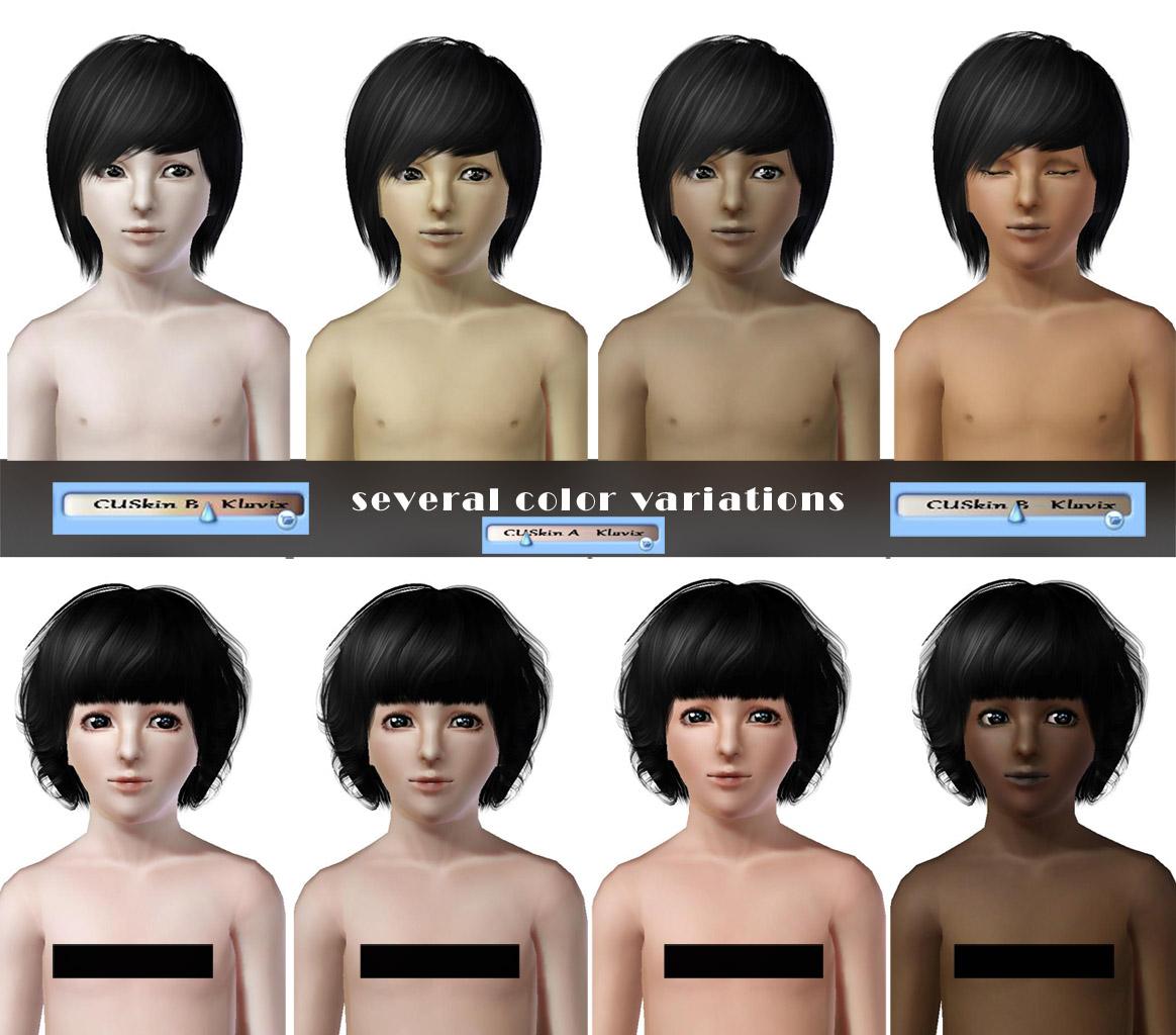 Sims Downloads skin nude
