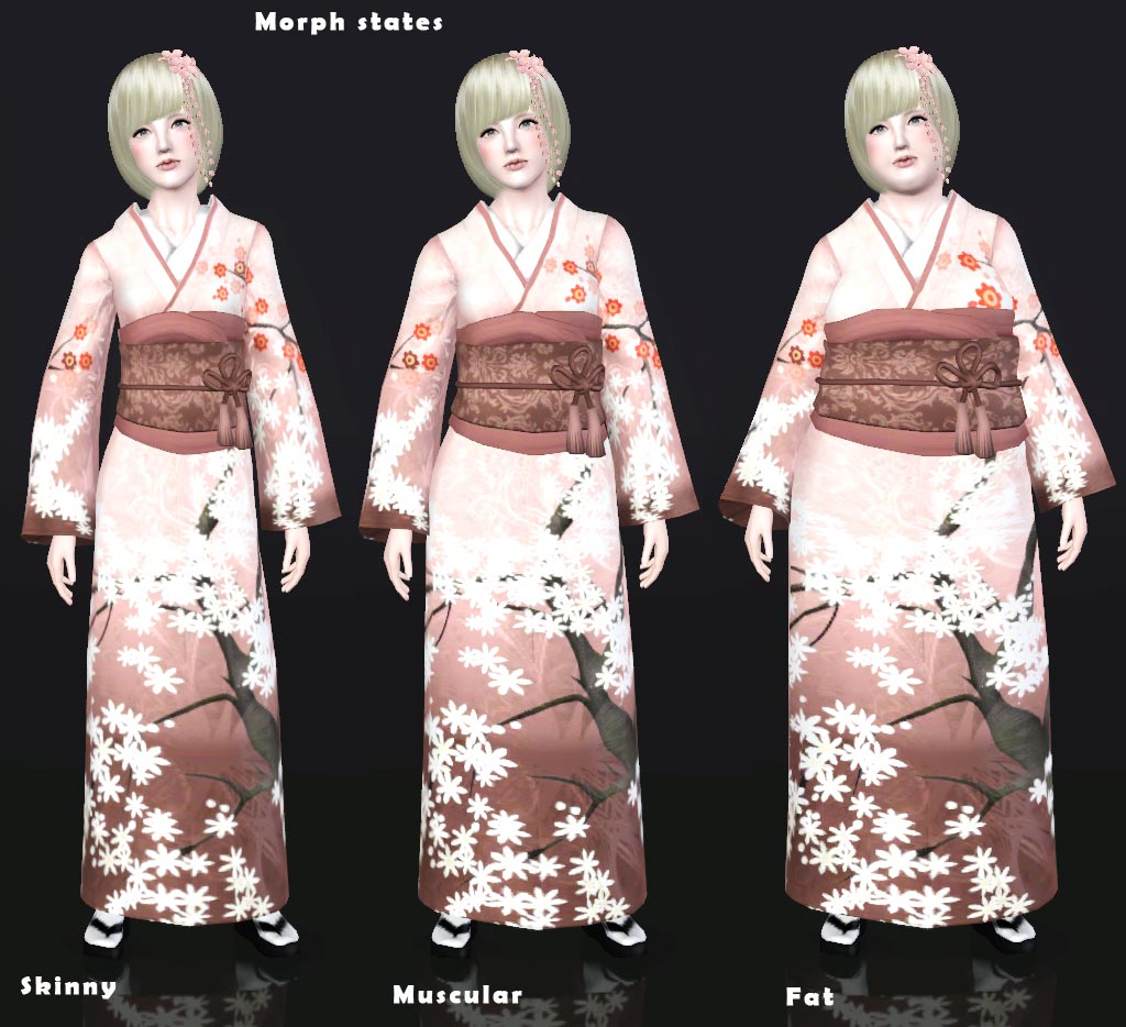Mod The Sims - UPDATED/Traditional Japanese clothing set