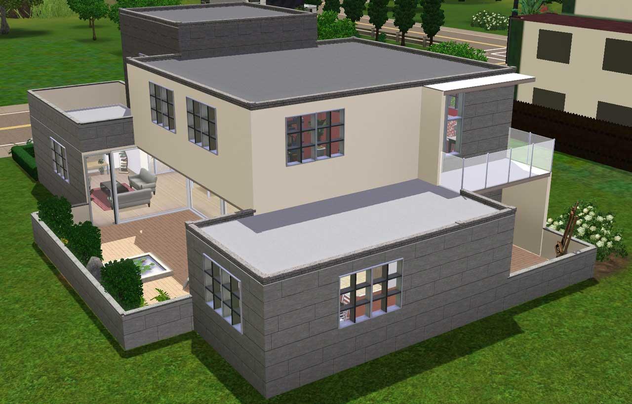 Algunas ideas de casas para los sims 3 taringa Casas modernas sims 4 paso a paso