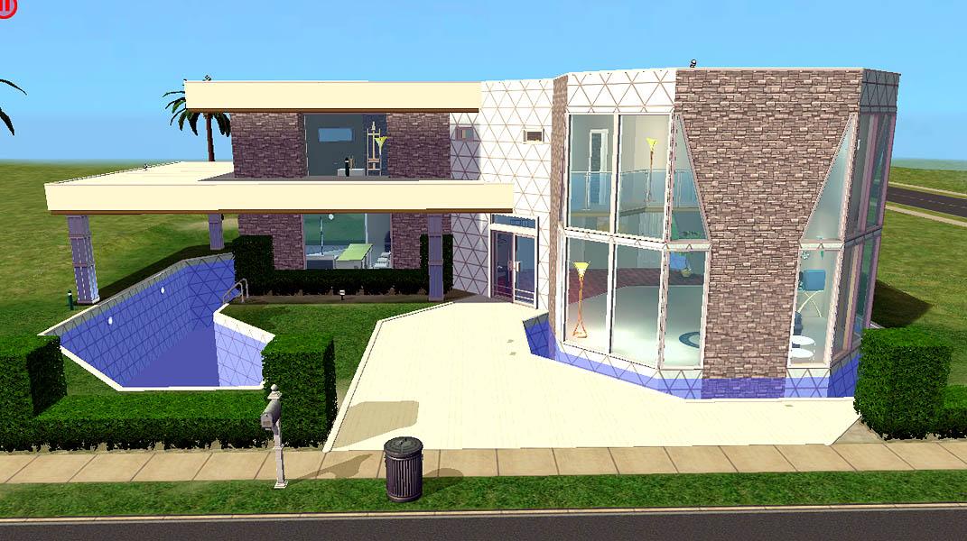 Casa moderna todo para tus sims 2 for Casas modernas sims 4 paso a paso