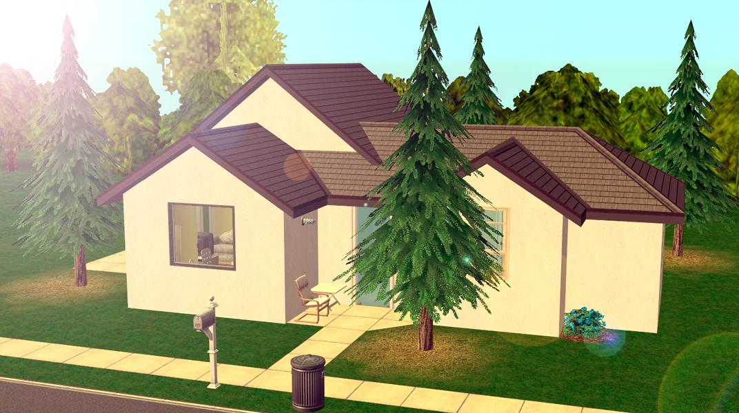 Mod The Sims No Cc Barebones Cottage Starter