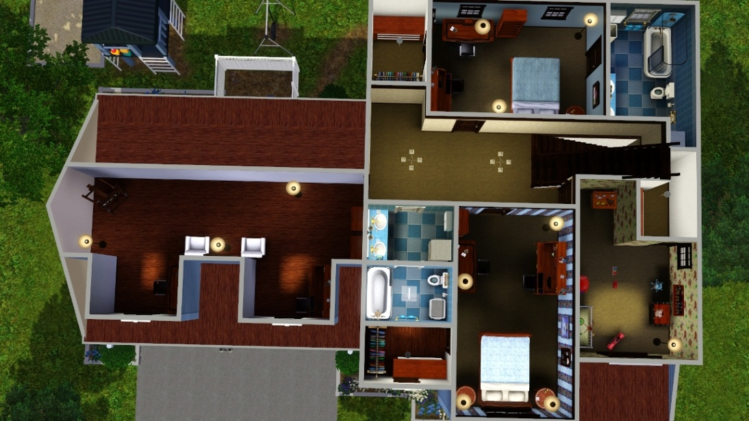 Mod the sims suburban family home no cc sp or store for Schuhschrank no name 05 sp