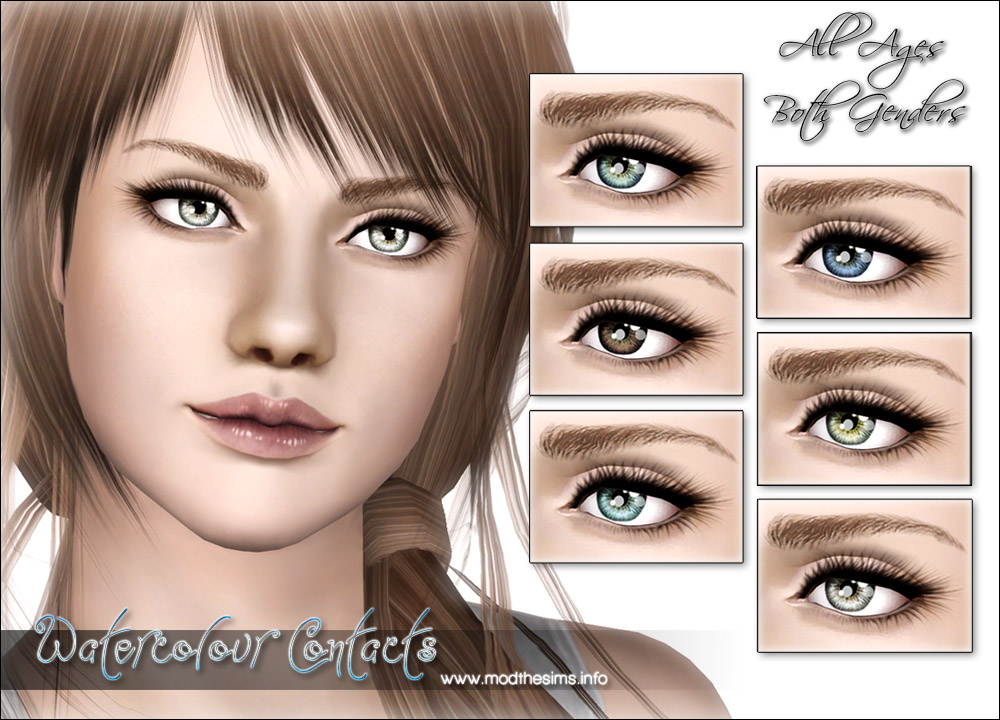 Mod The Sims Quot Watercolour Quot Ultra Small Realistic Contacts