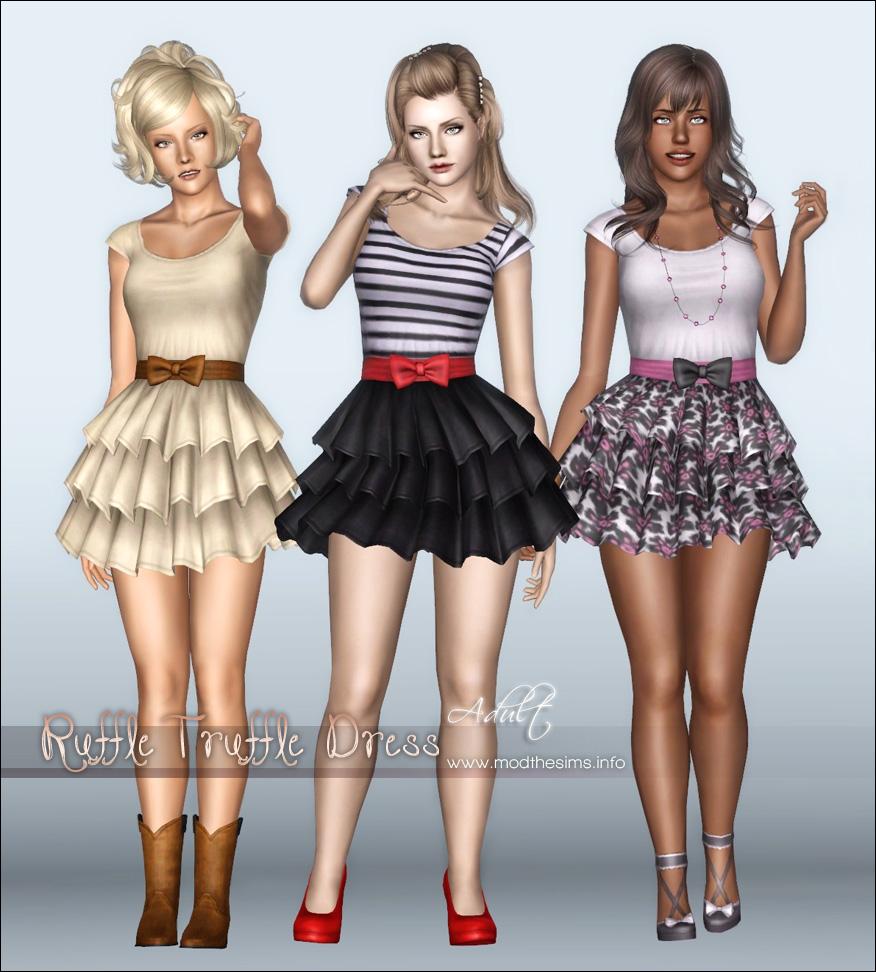 Женская повседневная одежда. MTS_Elexis-1338132-RuffleTruffleDress1