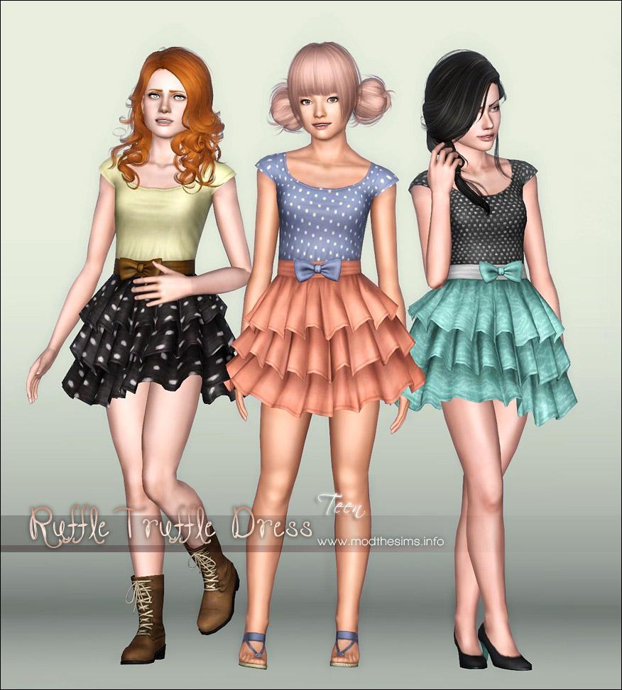 Женская повседневная одежда. MTS_Elexis-1338133-RuffleTruffleDress2