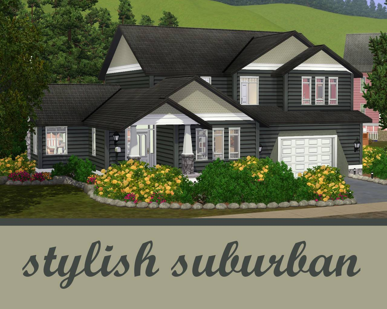 Floor Plans For Large Families Mod The Sims The Stylish Suburban