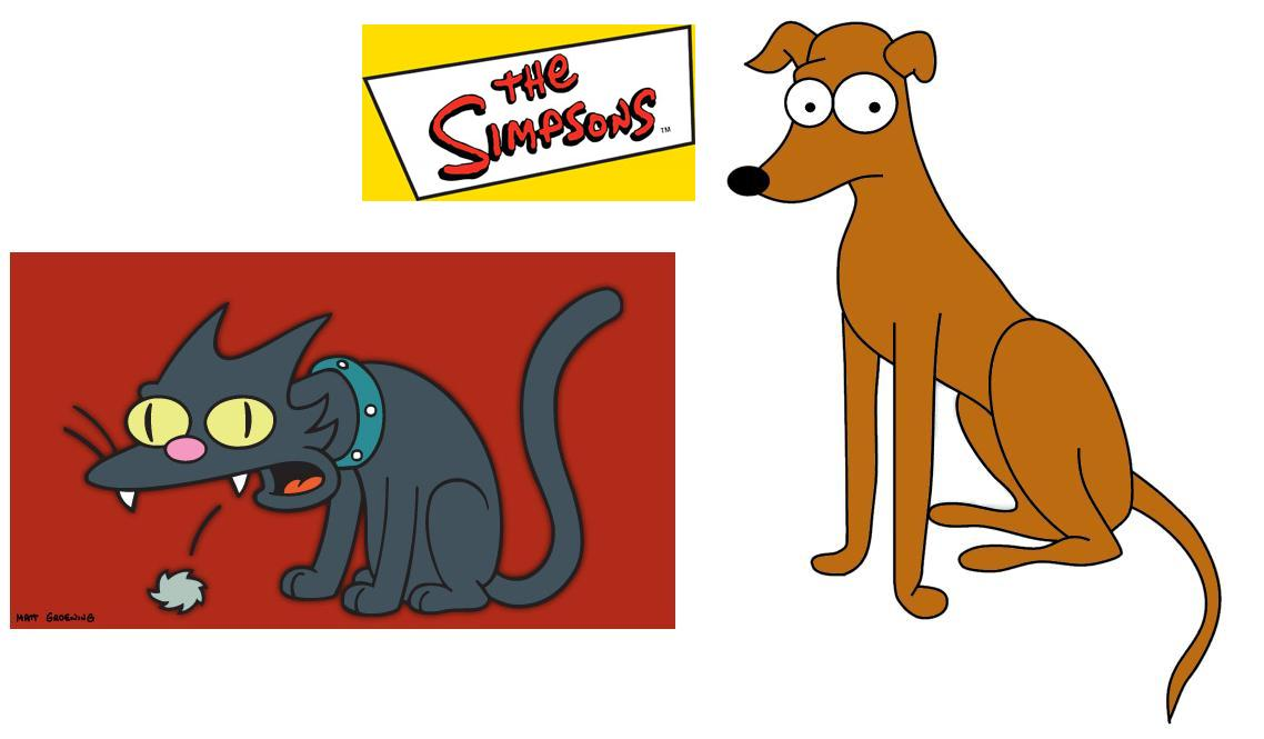 What Is The Name Of The Simpsons Dog And Cat