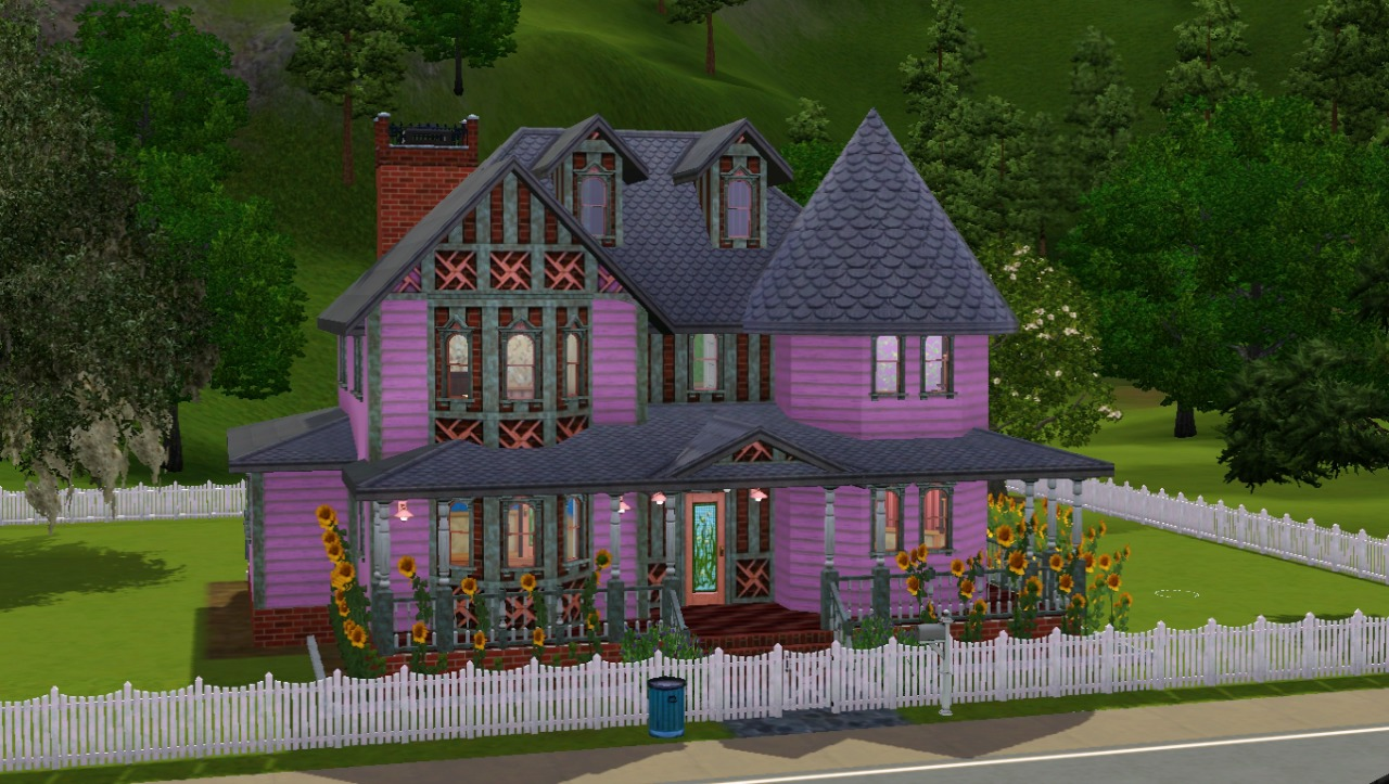 Mod the sims pretty in pink queen anne for Victorian tudor suite