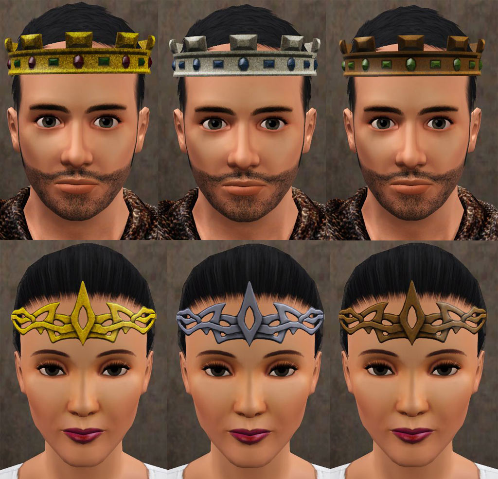 mod the sims medieval crowns circlets and hat hair ye olde