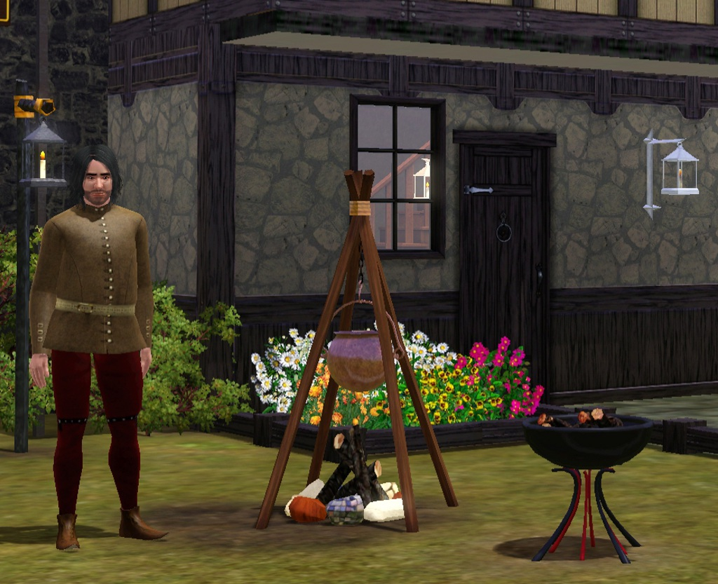 the sims medieval how to fix the cooking pot