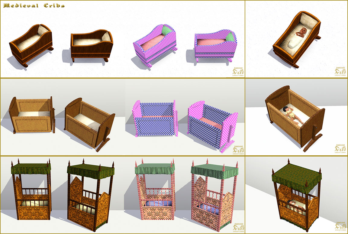 Mod The Sims Medieval Kids Furniture Part 2 Ye Olde