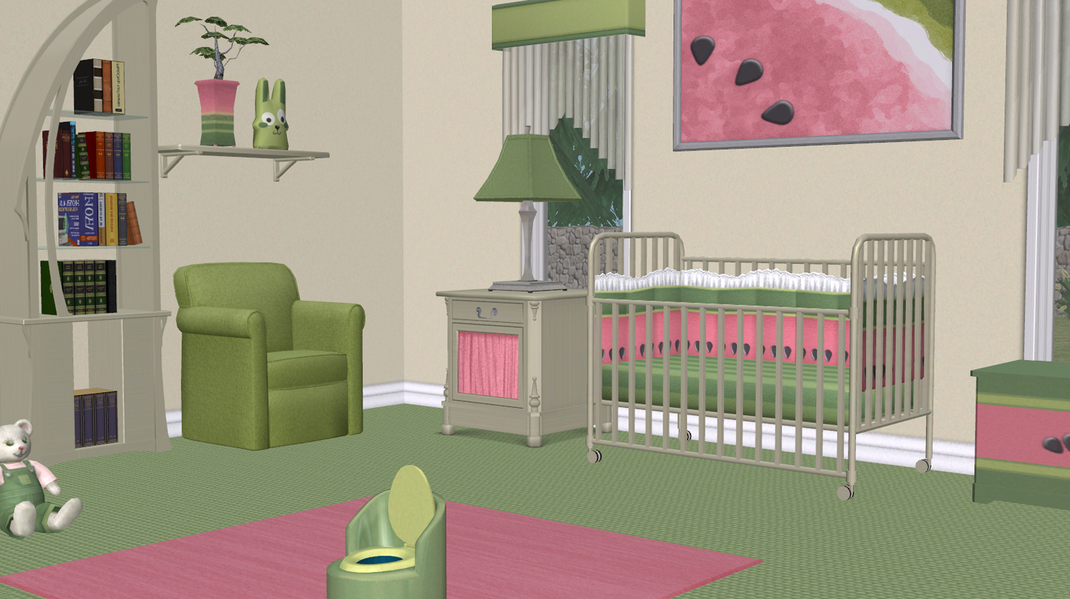 Mod The Sims Watermelon Nursery Maxis Recolours
