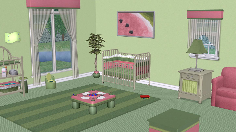 Mod The Sims Watermelon Nursery Maxis Recolours