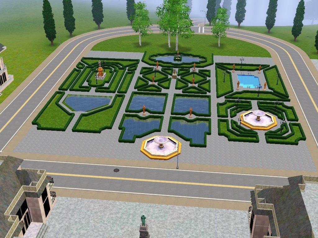 Mod the sims jardin du chateau de versailles for Jardin chateau de versailles