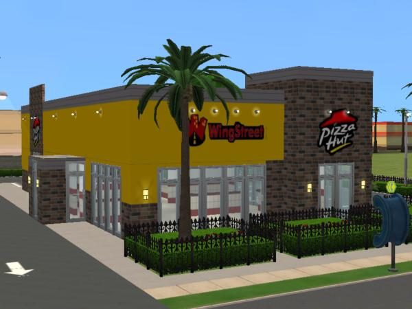 mod the sims pizza hut wing street. Black Bedroom Furniture Sets. Home Design Ideas