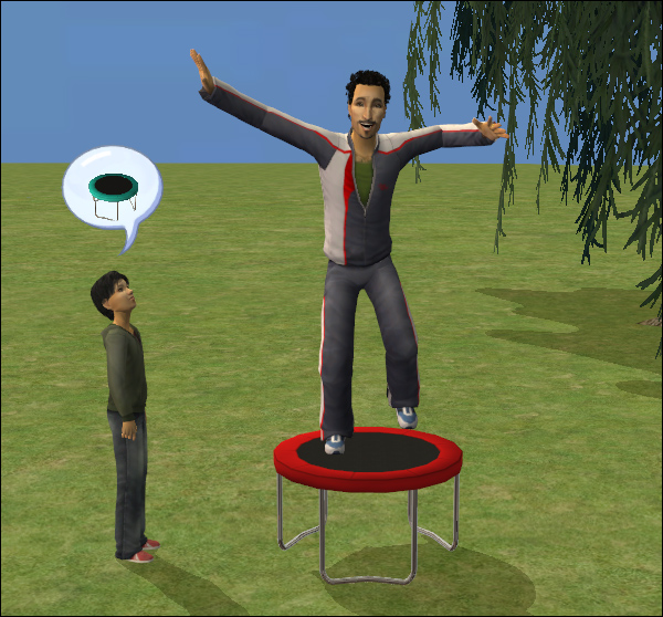 ModTheSims - The Sim Bouncer - a trampoline for fun and body skill
