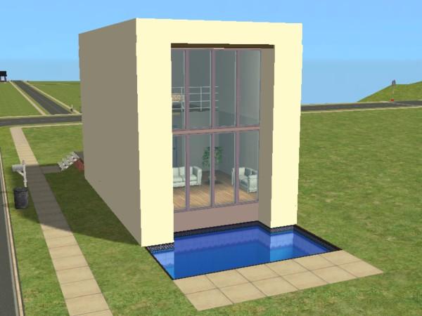 Mod the sims member joniblair for Modern house 44